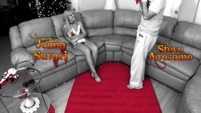 Three minute trailer of our Texas Christmas Banging scene! Long haired blonde vixen Jenna Suvari started her Christmas morning with a little handpuppet action. This was soon followed by some handjob action thanks to the timely arrival of Steve Awesome. You've heard of Saint Nick, right?  Steve isn't a saint by any stretch of the imagination.