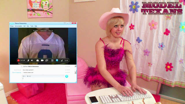 60s swinging single Jenna Suvari was online Skyping with guys and super horny! Steve Awesome always seems to find his way over to get into her tiny little pink panties, and today was not going to be an exception!