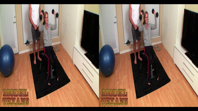 Jenna Suvari Trains At The TexSex Gym (Stereoscopic 3D), part 1